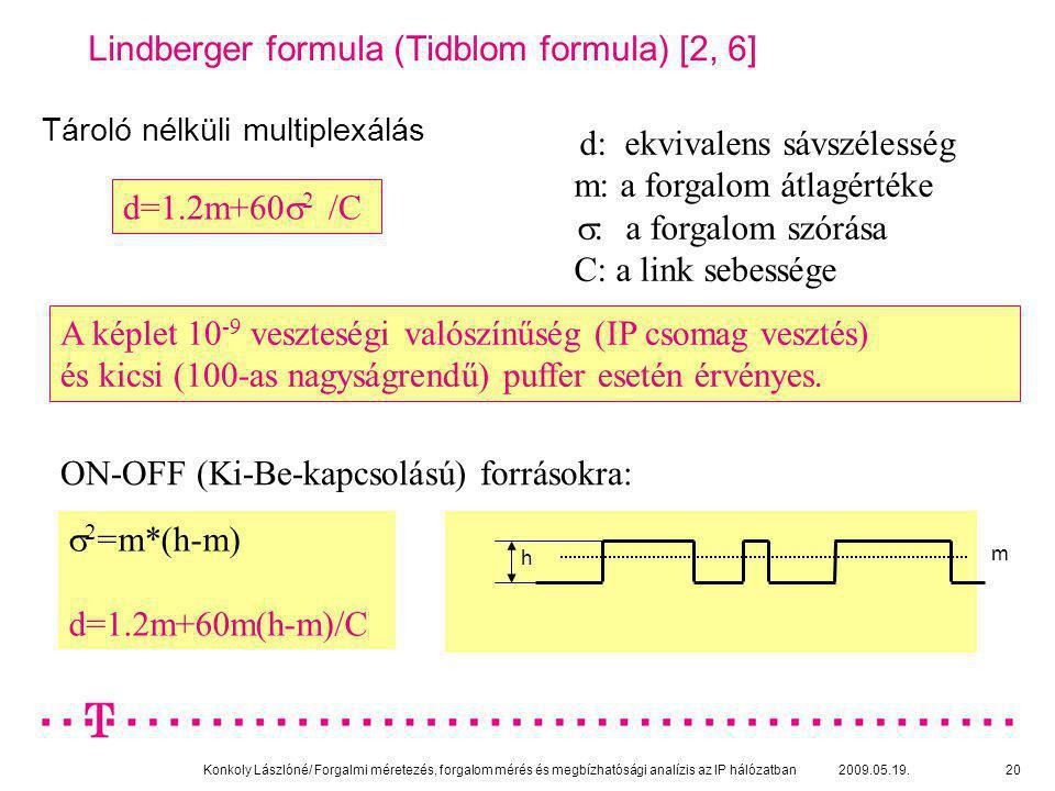 Lindberger formula (Tidblom formula) [2, 6]